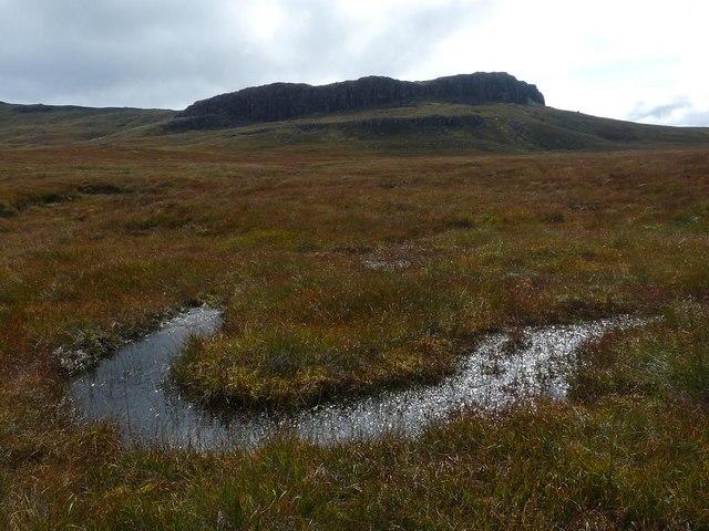 Moorland pool below Creag nam Fitheach, Ardmeanach, Isle of Mull