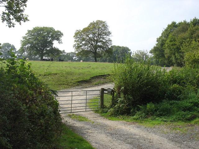 The entrance to Gwern-llan-uchaf