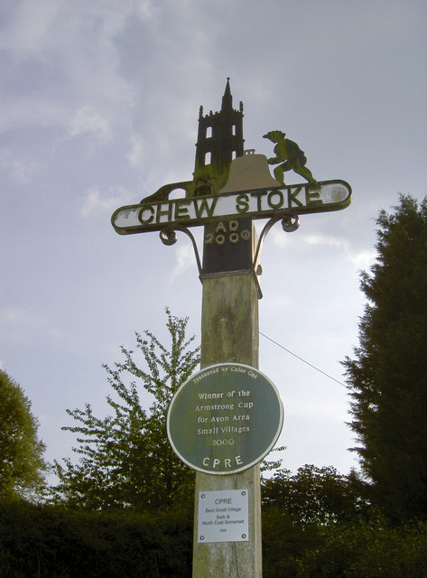 Chew Stoke millennium sign