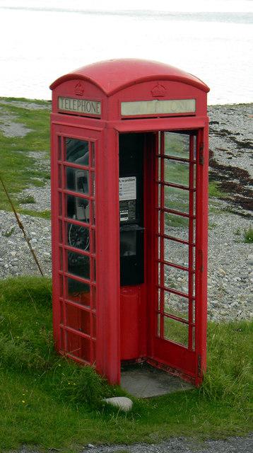 Telephone box - Lismore jetty