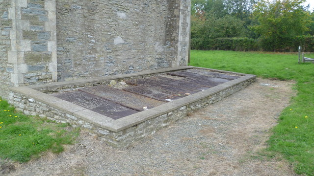 Part of the graveyard in St. George's church, Burrington