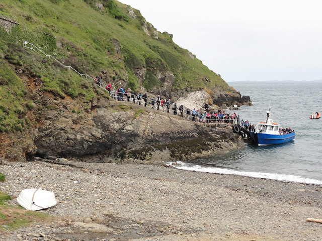 Boarding the Ferry to Skomer Island