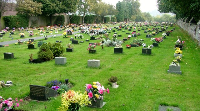 Colourful Stourport-on-Severn cemetery
