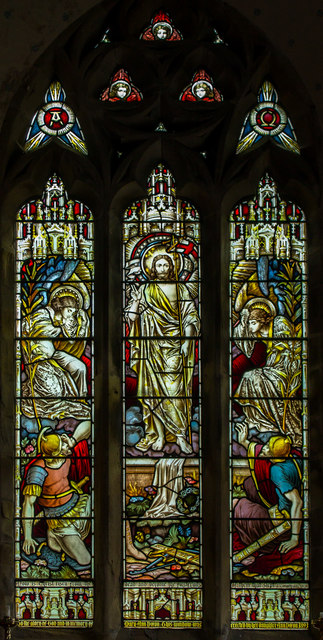 Stained glass window, St Luke's church, Holton le Moor