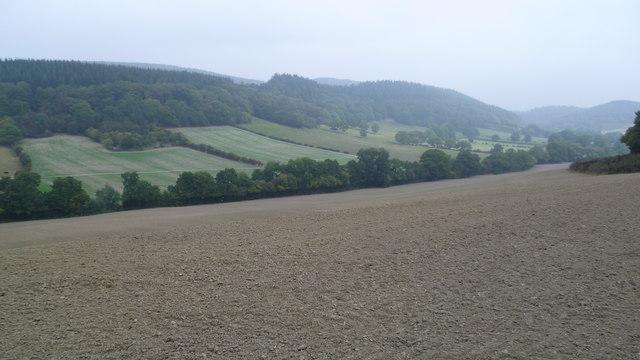 Plough soil on Bowburnet hill near Burrington