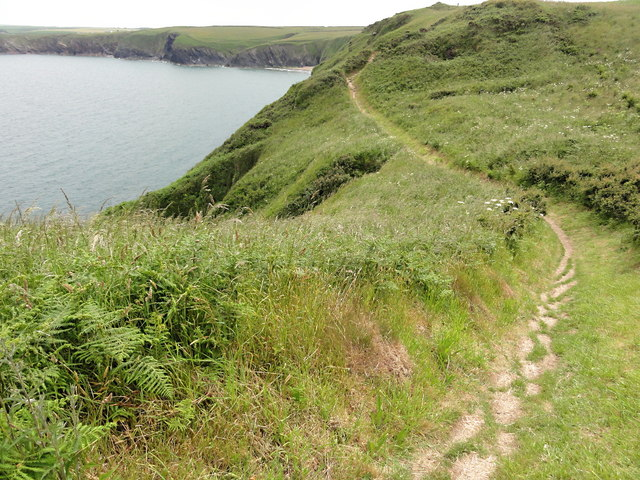The Coast Path along the Clifftop