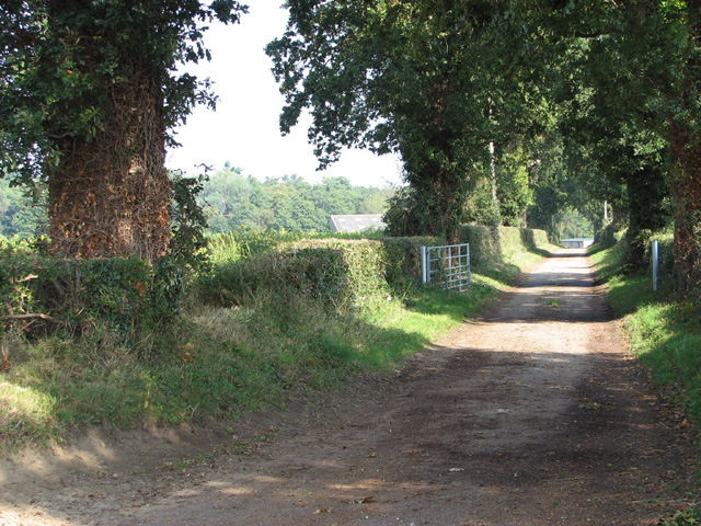 Access road to The Grange