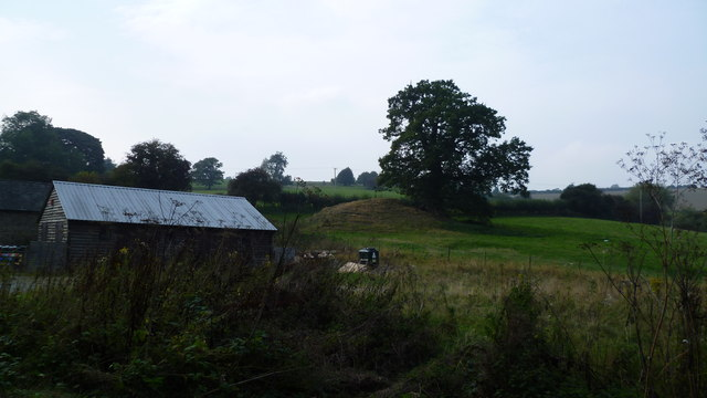 The old motte at Downton on the Rock