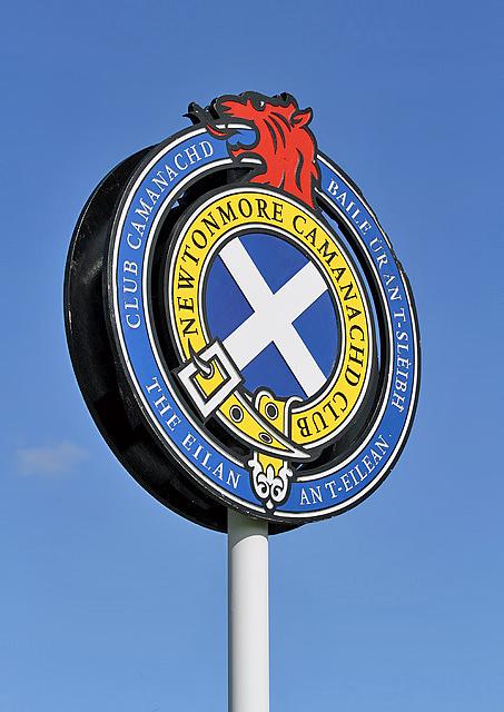 Newtonmore Camanachd Club sign