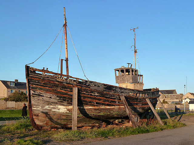 An old boat at Burghead
