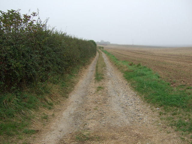 Track over Haisthorpe Field