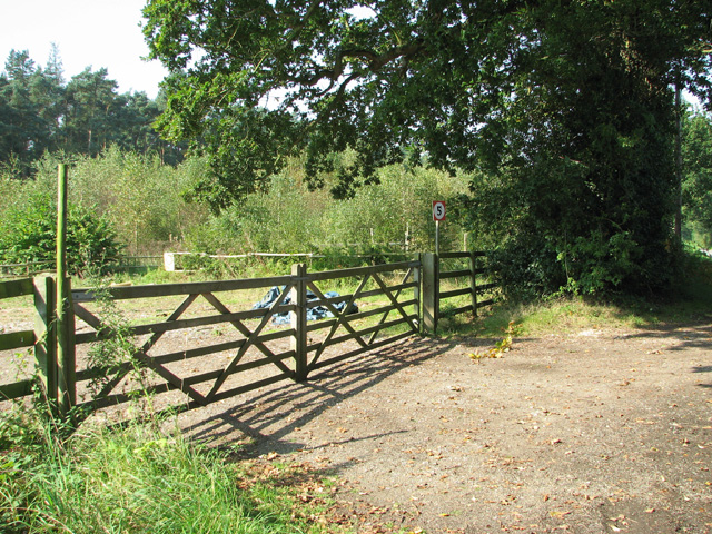 Gated entrance by Long Covert