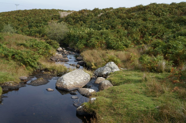 Afon Gyrach below Bryn Dewyd
