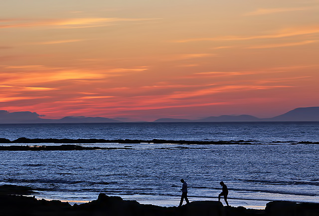 A sundown walk at Lossiemouth