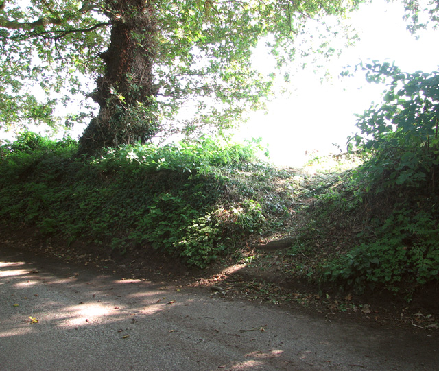The start of a footpath off Long Lane
