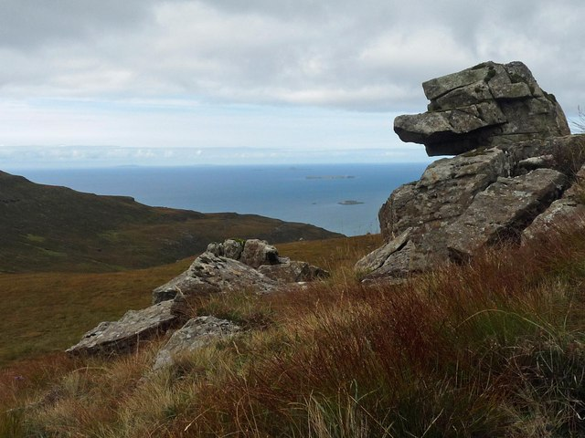 Rock outcrop, Meall nan Capall, Ardmeanach, Isle of Mull