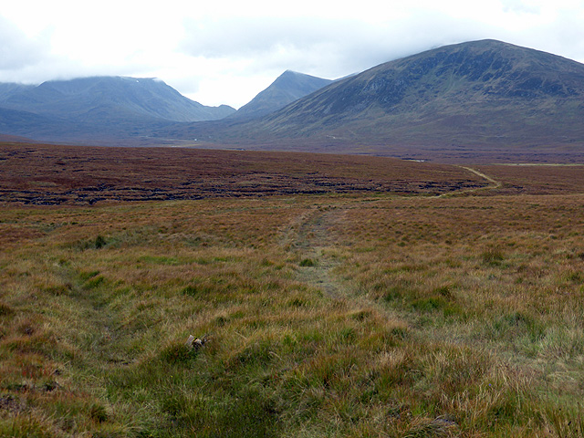 The path to Culra across Ben Alder Forest