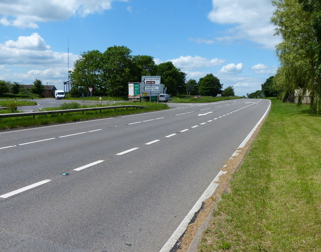 The A5 at High Cross