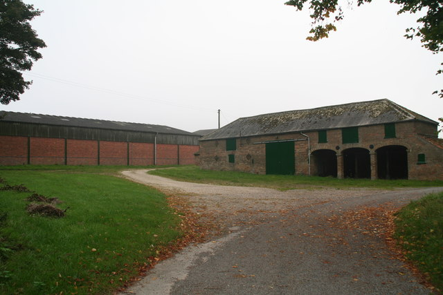 Barns and implement sheds at Rothwell Top Farm