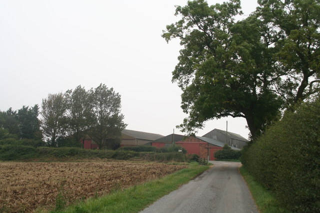 Farm on the B1225 opposite drive to Rothwell Top Farm