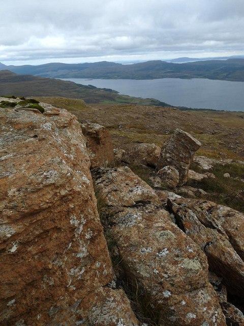 Rocks below Creach-Bheinn, Ardmeanach, Isle of Mull