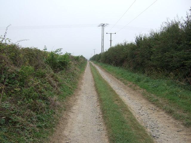 Green lane towards the A614