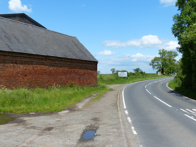 B4455 Fosse Way at Cloudesley Bush