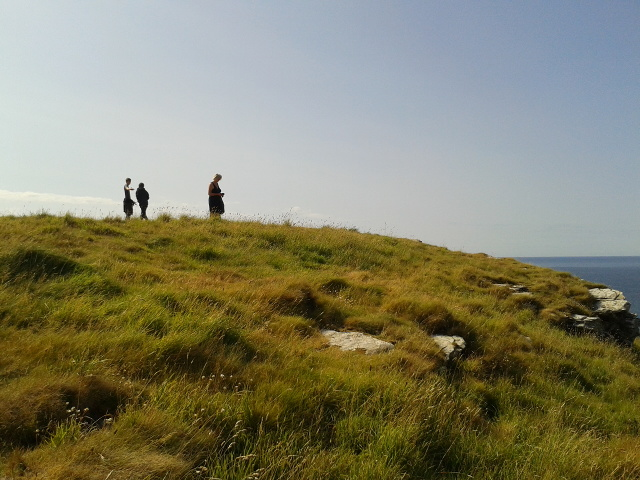 Visitors at Tintagel Castle