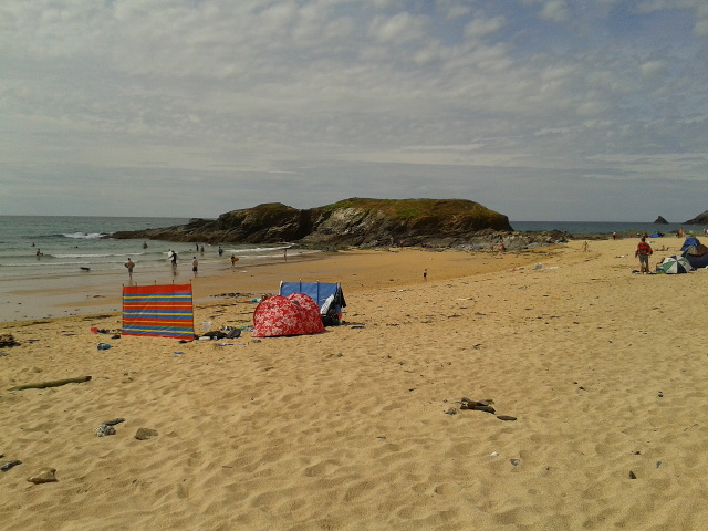 Beach at the north end of Constantine Bay