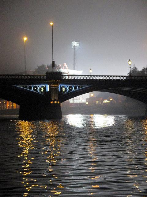Near Trent Bridge on match night
