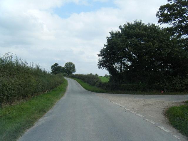 Frog Lane/Hall Lane junction
