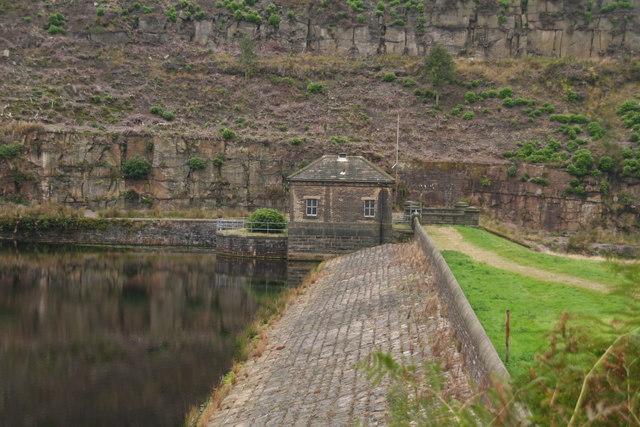 Looking across the Blakeley Reservoir Dam