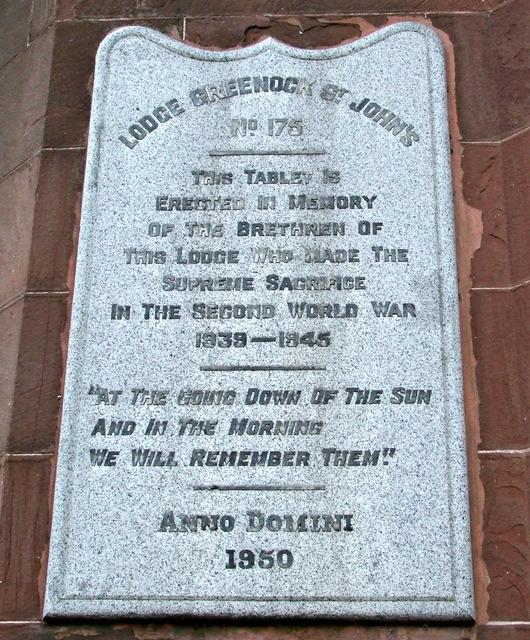 World War II memorial tablet