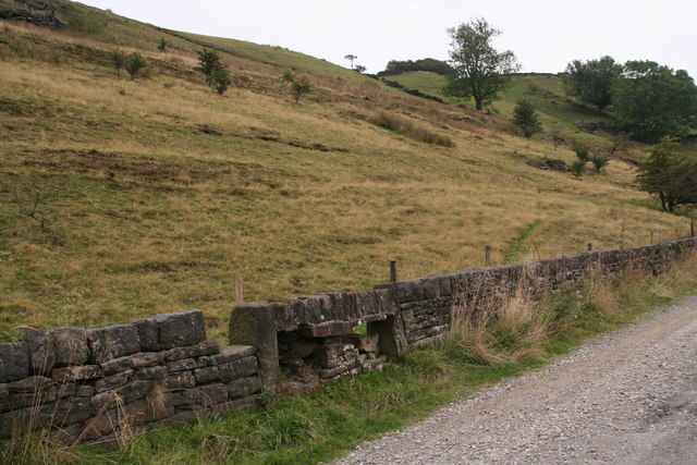 Old sheep passage in a stone wall by the Kirklees Way?