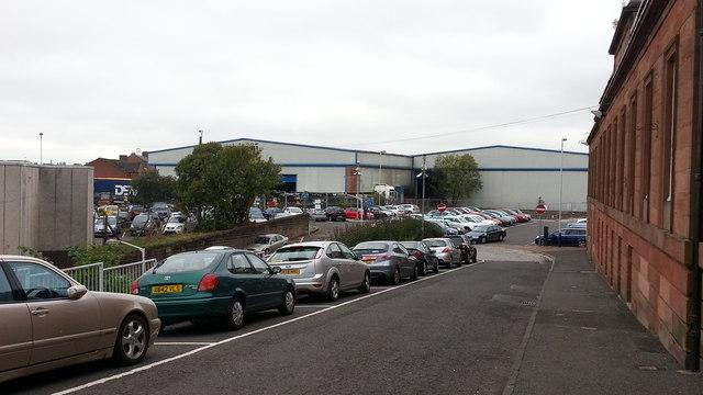 Station approach & Wabtec works, Kilmarnock