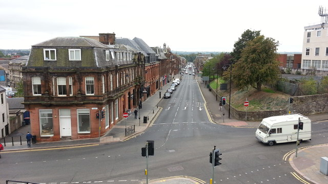 John Finnie Street from Kilmarnock station approach