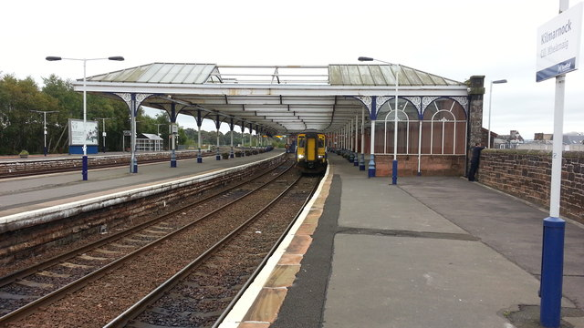 Kilmarnock station - view from the west end