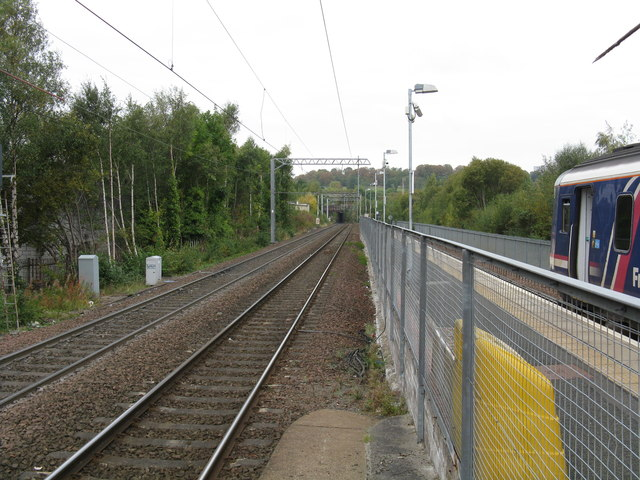 View north from Anniesland station