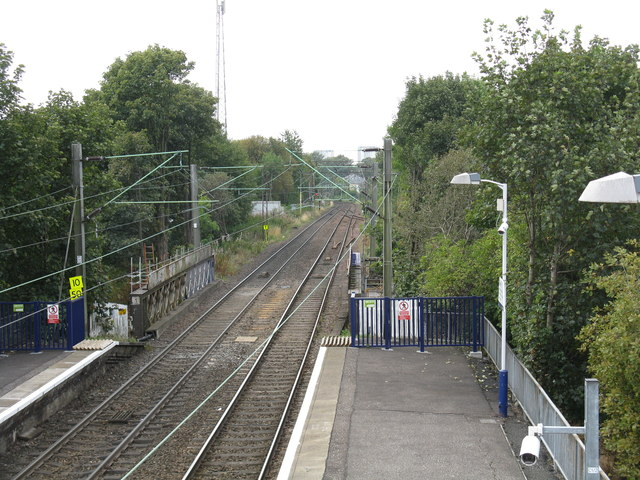 View west from Jordanhill station