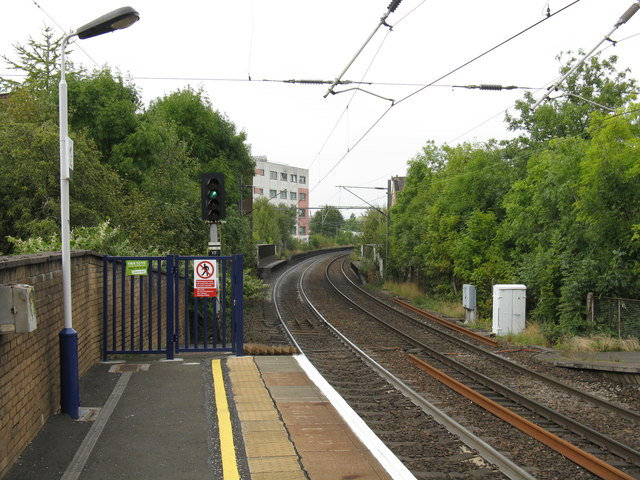 View north from Partick station