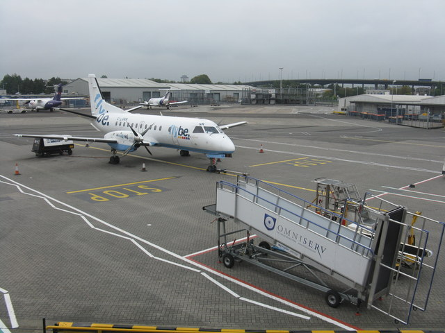 View from the eastern pier, Glasgow Airport