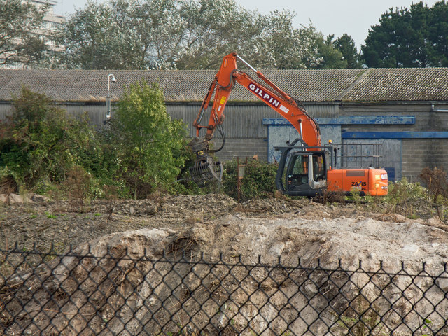 Clearing commences on the old Shaplands site in preparation for a new development