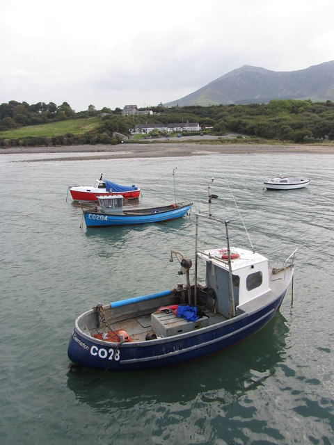 Fishing boats in Trefor harbour