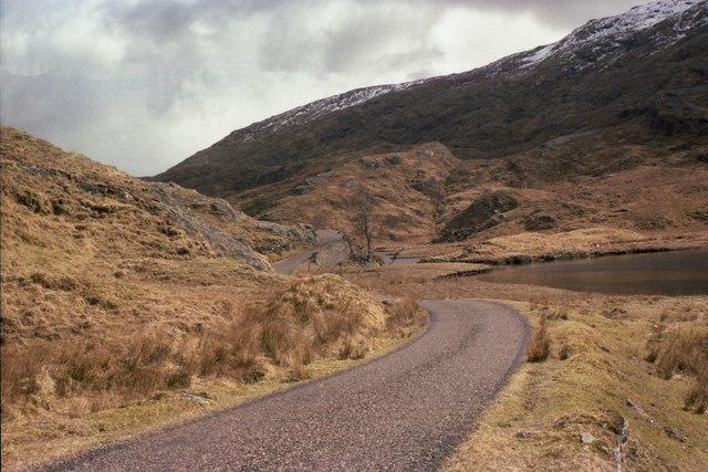 Road by Loch Coire nan Cnamh