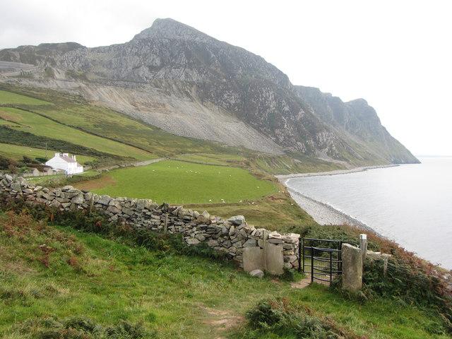 Wales Coast Path near West End cottages