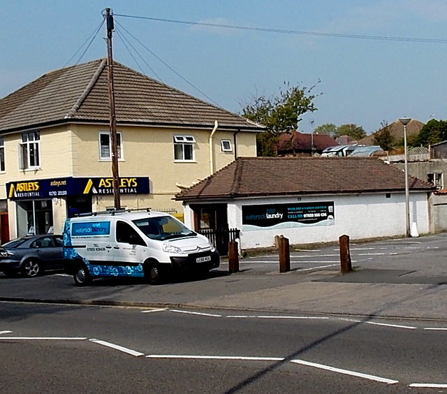 Waterside Laundry shop and van, Killay, Swansea