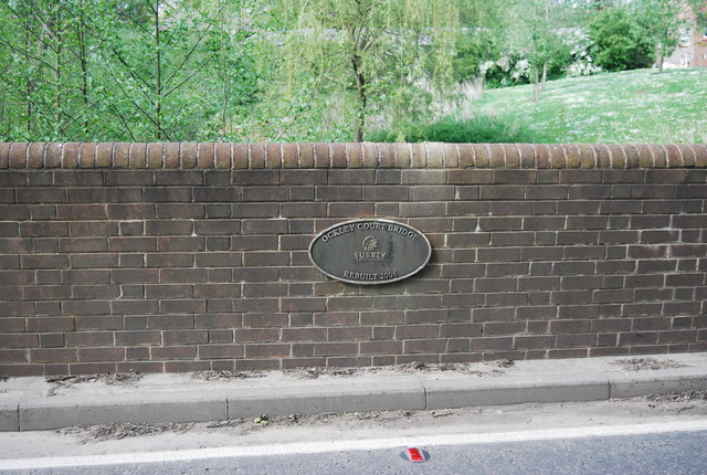 Plaque, Ockley Court Bridge