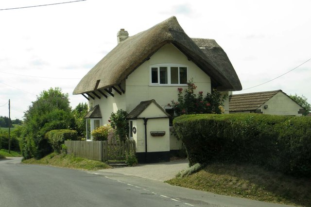 Thatched cottage on Body Horse Hill
