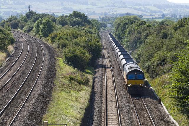 North bound freight train