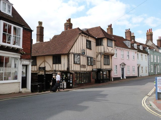 15th Century timber framed house, High St, Lewes